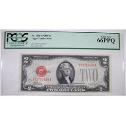 1928D $2 LEGAL TENDER NOTE - PCGS 66 PPQ