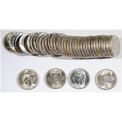 GEM BU ROLL OF 1944-P SILVER WAR NICKELS