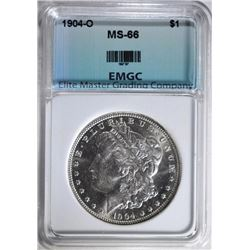 1904-O MORGAN SILVER DOLLAR EMGC SUPERB GEM