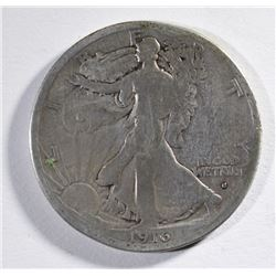 1916-S WALKING LIBERTY HALF DOLLAR - GOOD