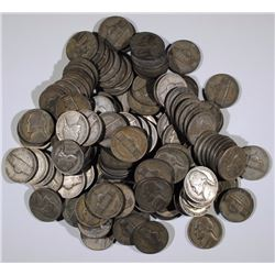 ( 140 ) CIRCULATED SILVER JEFFERSON WAR NICKELS