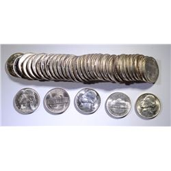 GEM BU ROLL OF 1943-S SILVER JEFFERSON NICKELS  NICE!