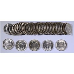 GEM BU ROLL OF 1944-P SILVER JEFFERSON NICKELS