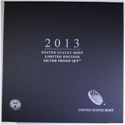 2013 U.S. MINT LIMITED EDITION SILVER PROOF SET IN ORIGINAL PACKAGING