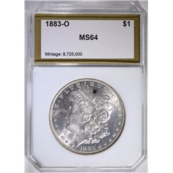 1883-O MORGAN DOLLAR PCI CH BU+
