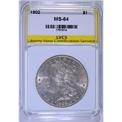1902 MORGAN SILVER DOLLAR LVCS CH / GEM BU