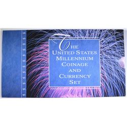 2000 MILLENIUM COIN & CURRENCY SET IN ORIGINAL PACKAGING
