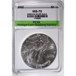 2002 AMERICAN SILVER EAGLE, PCSS PERFECT GEM BU