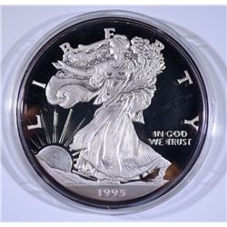 "1995 8-TROY OUNCE .999 SILVER ""GIANT EAGLE"" WITH BOX/COA"