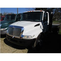 2007 INTERNATIONAL 4300 FLATBED DUMP, VIN/SN:1HTMMAAL47H463374 - S/A, IHC DIESEL ENGINE, A/T, 17' FL