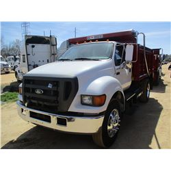 2004 FORD F750 DUMP, VIN/SN:3FRXF76334V590072 - S/A, CAT DIESEL ENGINE,ALLISON AT GVWR 33,000#, UNUS