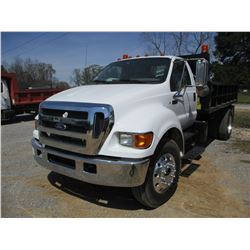2007 FORD F750 SUPER DUTY DUMP, VIN/SN:3FRX75587V514117 - S/A, C17 ACERA CAT DIESEL ENGINE, 6 SPEED