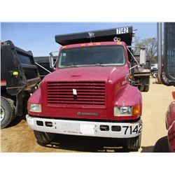 1997 INTERNATIONAL 4700 DUMP, VIN/SN:1HTSCAAN6VH491489 - S/A, INTERNATIONAL DIESEL ENGINE, 6 SPEED T