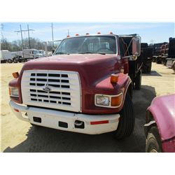 1995 FORD F SERIES DUMP, VIN/SN:1FDNF80C2SVA04744 - FORD DIESEL ENGINE, 5 SPD TRANS, 14' DUMP BODY,
