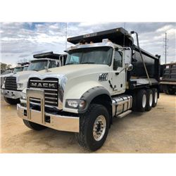 2017 MACK GU713 DUMP, VIN/SN:1M2AX07C2HM036496 - TRI-AXLE, 455 HP MACK MP8 ENGINE, ALLISON 4500 RDS