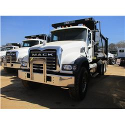 2017 MACK GU713 DUMP, VIN/SN:1M2AX07C0HM034682 - TRI-AXLE, 455 HP MACK MP8 ENGINE, MACK T310M 10 SPE