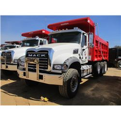 2017 MACK GU713 DUMP, VIN/SN:1M2AX07C6HM036579 - TRI-AXLE, 455 HP MACK MP8 ENGINE, ALLISON 4500 RDS