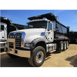 2017 MACK GU713 DUMP, VIN/SN:1M2AX07C6HM036565 - TRI-AXLE, 455 HP MACK MP8 ENGINE, ALLISON 4500 RDS