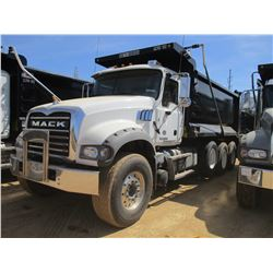 2018 MACK GU713 DUMP, VIN/SN:1M2AX07CXJM037093 -TRI-AXLE, 455 HP MACK MP8 ENGINE, MACK T310M 10 SPEE