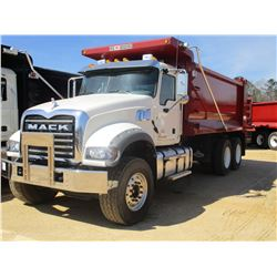 2017 MACK GU713 DUMP, VIN/SN:1M2AX07C5HM036492 - T/A, 455 HP MACK MP8 ENGINE, ALLISON 4500 RDS A/T,