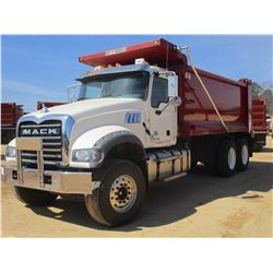 2017 MACK GU713 DUMP, VIN/SN:1M2AX07C6HM036484 - T/A, 455 HP MACK MP8 ENGINE, ALLISON 4500 RDS A/T,