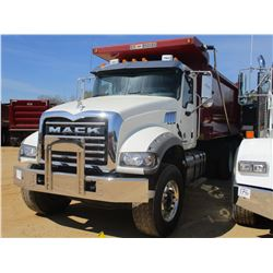 2017 MACK GU713 DUMP, VIN/SN:1M2AX07C4HM036483 - T/A, 455 HP MACK MP8 ENGINE, ALLISON 4500 RDS A/T,