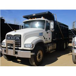 2014 MACK GU713 DUMP, VIN/SN:1M2AX09C2EM019514 - T/A, 425 HP MACK MP8 ENGINE, MACK T310M 10 SPEED TR