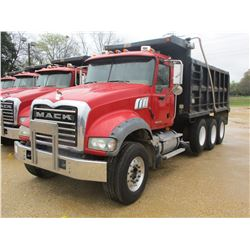 2008 MACK GU713 DUMP, VIN/SN:1M2AX09C48M003805 - TRI-AXLE, MACK MP8425M DIESEL ENGINE, T310 10 SPEED