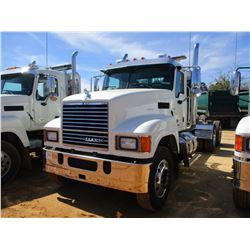 2017 MACK CHU613 TRUCK TRACTOR, VIN/SN:1M1AN07Y2HM061369 - T/A, 505 HP MACK MP8 ENGINE, MACK T318 18