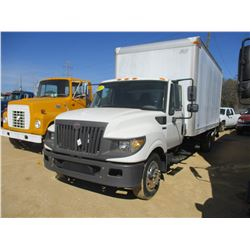 2012 INTERNATIONAL TERRA STAR SFA BOX TRUCK, VIN/SN:1HTJSSKK5CJ584423 - S/A, INTERNATIONAL DIESEL EN