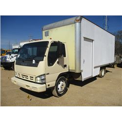 2006 ISUZU BOX TRUCK, VIN/SN:4KHC4B1U46J803119 - ISUZU DIESEL ENGINE, A/T, 20' BOX BODY, ROLL UP DOO