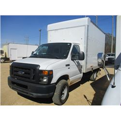 "2010 E350 VAN BODY TRUCK, VIN/SN:1F0SS3HL2ADA83603 - V8 GAS ENGINE, A/T, 12'-6"" BODY, ROLL UP DOOR,"