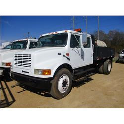1999 INTERNATIONAL 4700 WATER TRUCK, VIN/SN:1HTSCABL1XH627107 - S/A, CREW CAB, IHC DIESEL ENGINE, A/
