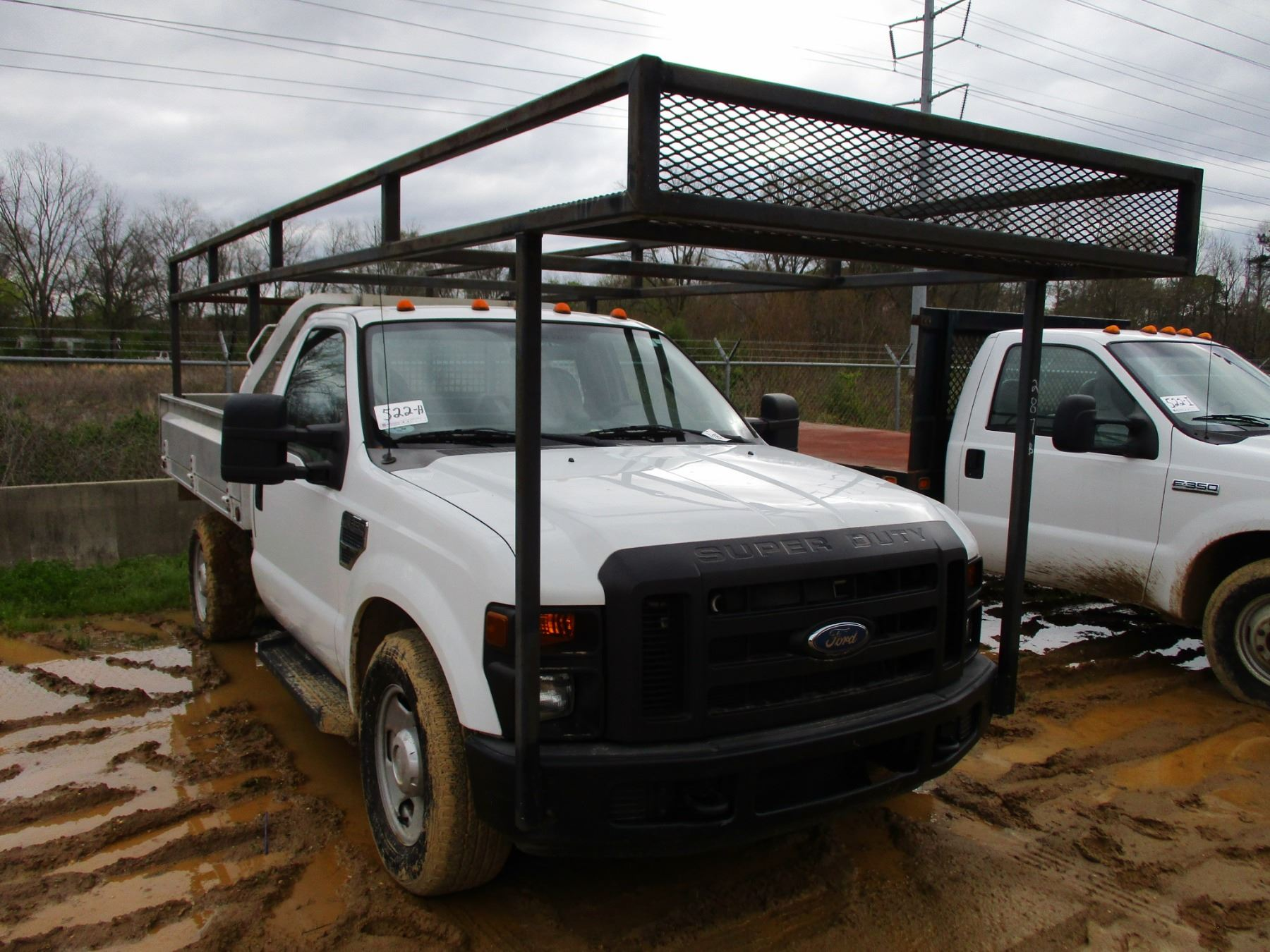 2008 FORD F350 FLATBED TRUCK VIN SN 1FDSF EA S A V8 GAS