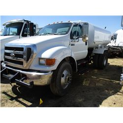 2006 FORD F750 SUPER DUTY WATER TRUCK, VIN/SN:3FRXF75E56V356666 - S/A, CUMMINS DIESEL ENGINE, 6 SPEE