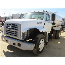 1999 FORD F SERIES WATER TRUCK, VIN/SN:3FEWF80C4XMA09946 - S/A, FORD DIESEL ENGINE, 5 SPEED TRANS, R