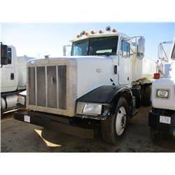 1996 PETERBILT 377 WATER TRUCK, VIN/SN:1XPCD99X2TD402362 - CUMMINS DIESEL ENGINE, 10 SPEED TRANS, 38