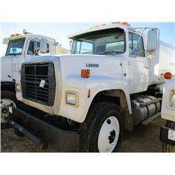 1989 FORD L9000 WATER TRUCK, VIN/SN:1FDYU90W3KVA07560 - T/A, CUMMINS ENGINE, 9 SPEED TRANS, 40K REAR