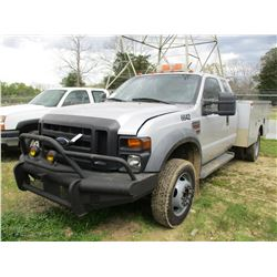2008 FORD F550 SERVICE TRUCK, VIN/SN:1FDAX56R58EB66642 - EXTENDED CAB, FORD POWER STROKE DIESEL ENGI