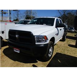 2018 DODGE RAM 3500 CAB & CHASSIS, VIN/SN:3C7WR9CJ1JG206341 - CREW CAB, 4X4, 6.4L ENGINE, A/T, POWER