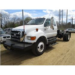 2008 FORD F750 CAB & CHASSIS, VIN/SN:3FRXX75T88V574356 - EXT CAB, S/A, CAT DIESEL ENGINE, 7 SPEED TR