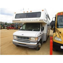 "1999 FORD F450 MOTOR HOME, VIN/SN:1FDXE4050XHA00368 - S/A, V10 GAS ENGINE, A/T, 31"" JAMBOREE CAMPER"