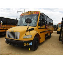 2008 THOMAS SCHOOL BUS, VIN/SN:4UZABRCS27CX81480 - 24 PASSENGER, A/C, A/T, ODOMETER READING 141,826
