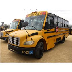 2007 THOMAS SCHOOL BUS, VIN/SN:4UZABRCS27CX81480 - 24 PASSENGER, A/C, A/T, ODOMETER READING 130,194