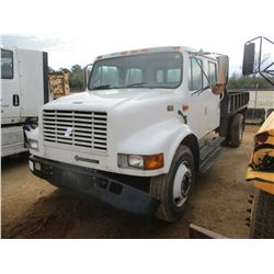2000 INTERNATIONAL 4700 FLATBED TRUCK, VIN/SN:1HTSCABM4YH322050 - S/A, CREW CAB, INTERNATIONAL DIESE