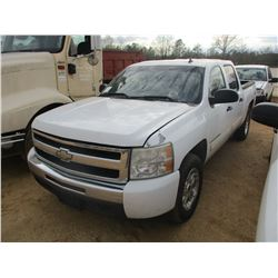 2009 CHEVROLET SILVERADO CREW CAB, VIN/SN:3GCEK23M89G275022 - 4X4, V8 GAS ENGINE, AUTO (DOES NOT OPE