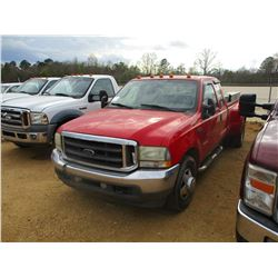 2004 FORD F350 DUALLY VIN/SN:1FTWX32P94EB10118 - EXT CAB, FORD DIESEL ENGINE, A/T (DOES NOT OPERATE)