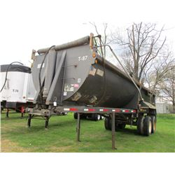 2001 TRAVIS HRS DUMP TRAILER, VIN/SN:48X7L262711001684 - STEEL, FRAMELESS, 26' LENGTH, HIGH LIFT GAT