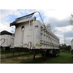 1999 BENSON DUMP TRAILER, VIN/SN:1680 - TRI-AXLE, ALUM, 34FT, BARN GATE, 11R24.5 TIRES