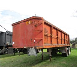 DUMP TRAILER FRAME, VIN/SN:643215782 - T/A, 26'. 11R24.5 TIRES (COUNTY OWNED)